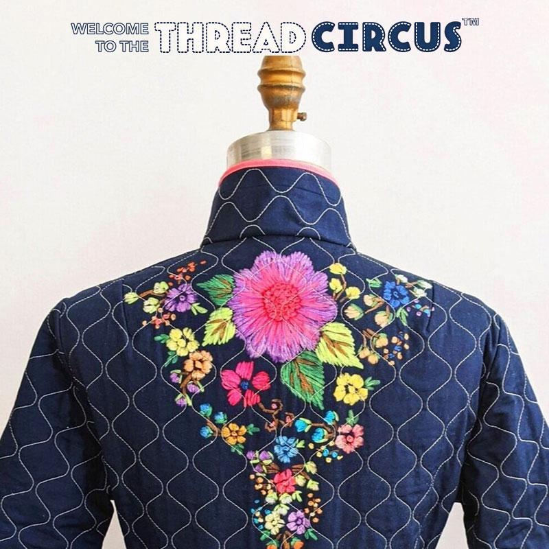 Thread Circus Navy Floral Robe