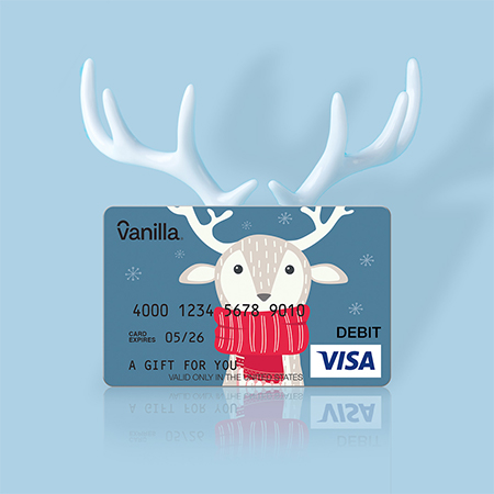 Reindeer Gift Card with Antlers