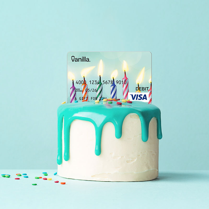 Birthday Cake with Candles Gift Card